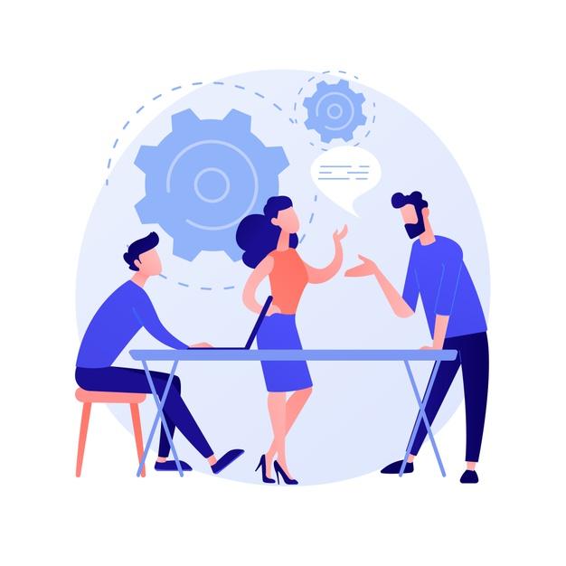 seminaire-affaires-formation-developpement-du-personnel-consultation-coaching-mentorat-rapport-ecoute-personnages-dessin-anime-illustration-concept-femme-affaires-reussie_335657-2043