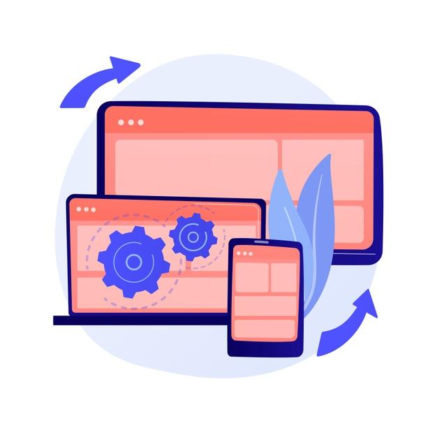 visualisation-page-web-procedure-protocole-flux-travail-logiciel-dynamique-developpement-full-stack-balisage-administration-du-systeme-pilote-pour-memoire-partagee-illustration-metaphore-co